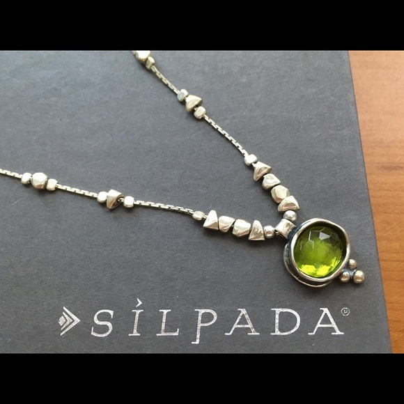 Silpada jewelry 925 and green glass pendant necklace poshmark silpada 925 and green glass pendant necklace aloadofball Images